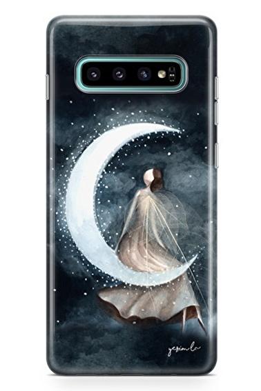 Lopard Samsung Galaxy S10 Kılıf Ay Peri Kapak Renkli